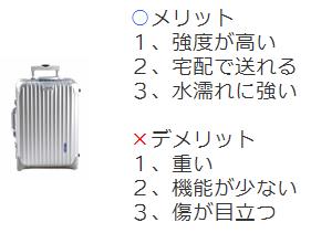 ハードスーツケースのメリット・デメリット
