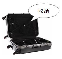 スーツケースの収納