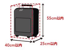 手荷物のサイズ
